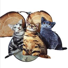 Wholesale Novelty Makeup - Wholesale- Novelty children wallet Brand New Fashion Cartoon Cute Cat Face Zipper Case Coin Case Purse Wallet kids Makeup Buggy Bag Pouch