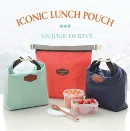 Wholesale Red Lunch - Oxford cloth lunch pouches Isothermic bags portable outdoor picnic packages aluminum foil package Ice pack wholesale