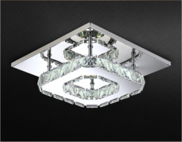 Wholesale Square Crystal Ceiling Lamp - New modern minimalist LED square aisle lamp crystal lamp ceiling lamp Light Aisle balcony Warm white (3500-4500K) Ceiling Lights
