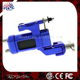 Wholesale tattoo rca - Wholesale- high quality brand 2015 blue pro rotary tattoo machine gun for liner shader with RCA cord