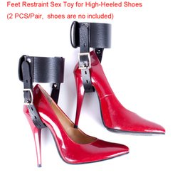 Wholesale Sex Heels - Sex Toy for High-Heeled Shoes Kinky PU Leather Foot Female Bondage Fetish Kit for Couples Adult Sex Game Product