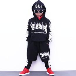 Wholesale Suits Teenager - Boys sport suit autumn girls clothing set school teenager boy dance wear kids tracksuit casual hip-hop child set boy outfit 2pcs 1018#