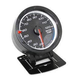 Wholesale Water Temp Gauges - Universal 2.5Inch 60mm Car Motor Gauge Water Temperature Meter Black Shell with Red & White Lighting AGA_500