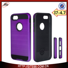 Wholesale Cell Combo - For Apple iPhone7 Plus Case tpu pc 2 in 1 combo Shockproof Armor Hard Frame TPU Gel Hybrid Kickstand cell phone Cover Cases