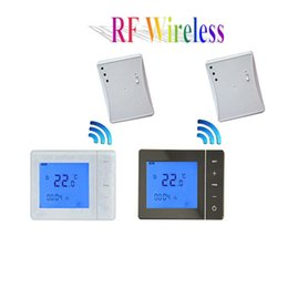 Wholesale Electric Floor Heating Thermostat - Freeshipping Electric Floor Heating Thermostat 433MHZ 16A Wireless Floor Heating Thermostat
