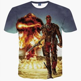 Wholesale Pink Animations - Summer T-shirt 3d print cartoon Animation Anime Characters Cats Fire Warriors Fashion Short sleeve T-shirt Tops tees