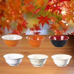 Wholesale Lotus Flower Bowl - Melamine Dinnerware Lotus Flower Bowl With Chain Restaurant Rice Bowl A5 Melamine Bowls Melamine Tableware Kitchen Soup Bowl