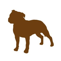 Wholesale Dog Door For Window - Staffordshire Bull Terrier Dog Pet Lover Vinyl Decal Car Sticker For Car Window Bumper Auto Parts Scratches Motorcycles