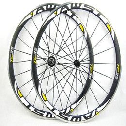 Wholesale Alloy Clincher Rims - Powerway R13 hubs Carbon road bike wheels clincher C35 alloy brake surface Carbon alloy Wheels 38mm Rims carbon alloy wheelset 700c rims