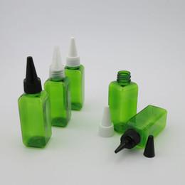 Wholesale E Liquid X - 50 x 50ml Green Empty Plastic Bottles Container For E- Liquid
