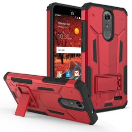 Pc hd à vendre-Pour LG K20 PLUS / X power / Stylo3 / Tribute HD LS676 3 en 1 Silicone + PC + TPU Anti-shock Kickstand Phone Case