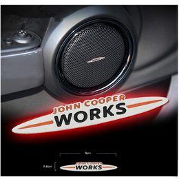 Wholesale Speakers Sticker - Stainless Steel JCW Emblem Car Speaker Sticker for Mini John Cooper Works Countryman Clubman R52 R53 R55 R56 R59 R60 F55 F56
