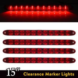 "Wholesale 3rd Brake - Red 15"" 11 LED Light Bar Stop Turn Tail 3rd Brake Light Truck Trailer ID Bar Waterproof Free shipping"