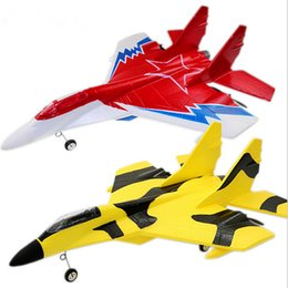 Wholesale Airplane Model Jet - Hot sale mig 29 model led jet rc planes electric remote control airplanes epp foam ready to go rc aircraft