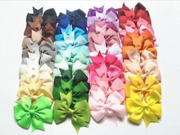 Wholesale Pins Baby - Hair Bows Hair Pin Kids Girls Hair Accessories Baby Hairbows Girl Bows Clips Flower Hairclip Kids Boutique Bow Barrette Clips