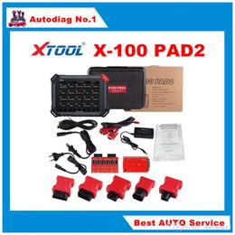 Obd2 programador chave para benz on-line-XTOOL Original X100 Pad2 Auto Programador Chave Suportando EPB EPS OBD2 Odómetro OilRst TPMS TPS X100 PAd 2 Melhor do que X300 pro3