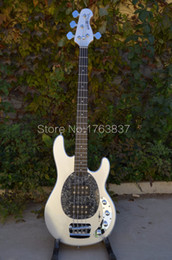 Wholesale Maple Musicman - Wholesale-Shelly new store factory custom silver MusicMan StingRay 4 string bass 9V battery electric bass guitars musical instruments shop