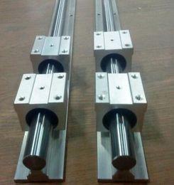 Wholesale linear blocks - 2 pcs SBR16 500mm linear guide and 4 pcs SBR16UU linear bearing blocks,sbr16 length 500mm for CNC parts