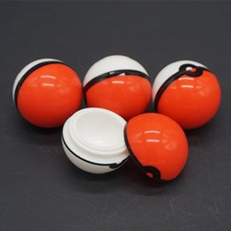 Wholesale Wholesale Glass Food Storage - Pokeball Silicone Container Wax Jars Food Grade Silicon Gel Ball Shaped Storage Box For Dry Herbal Vaporizer Glass Bong Accessories DHL Free