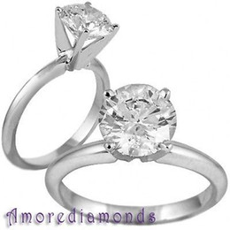 Wholesale Gia Diamond Engagement Rings - 3.01 ct E VVS GIA natural round engagement diamond solitaire ring 18k white gold