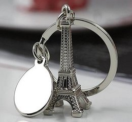 Wholesale Souvenir Items Wholesale - Wholesale- Fashion Innovative Novelty Items Eiffel Tower Keychain Trinket Paris Souvenir Keychain Christmas Gift Gadget