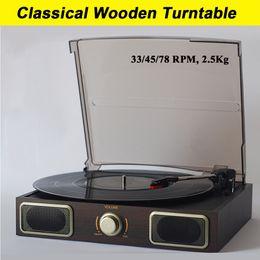 Wholesale Vinyl Phonograph Records - Wholesale-Old fashion Classical Phonograph records player Vinyl gramophone Record LP Turntable Classics Music machine transcription