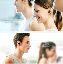 Wholesale Wireless Earbuds For Cell Phones - TWS Mini waterproof Bluetooth Earbuds Wireless Stereo Earphone For iphone i7 plus S7 i8 with Charging Socket play music Cell Phone Earphones