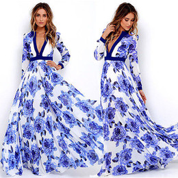 Mulheres sexy summer dress maxi longo partido da noite vestido de praia tamanho do vestido de verão 6-18 atacado no mundo inteiro de Fornecedores de vestido sexy 18 verão