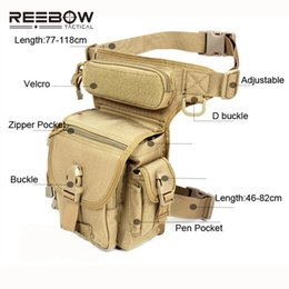 Wholesale Swat Tactical Backpacks - abric cell phone holders Outdoor Multifunctional Tactical Drop Leg Bag SWAT Hunting Tool Waist Pack Motorcycle Sports Ride Men 1000D CORD...
