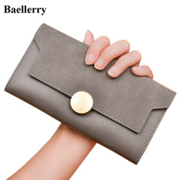 Wholesale New Slim Cell Phones - New Designer Leather Wallets Women Slim Long Coin Purses Girls Money Bag Credit Card Holders Clutch Wristlet Phone Wallet Female