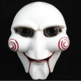 Wholesale Scary Saw Masks - Halloween Party Mask Scary Full Face Masquerade Saw Puppet Halloween Gift Costume Fancy Ball Masks for Christmas Day Men Adults