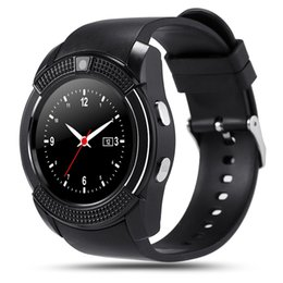 Wholesale Matches Waterproof Outdoor - Original Sport Watch Full Screen Smart Watch V8 For Android Match Smartphone Support TF SIM Card Bluetooth Smartwatch PK GT08 V8 Wristwatch