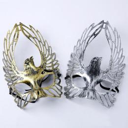 Canada Halloween Rétro Or Argent Aigle Forme Partie Masques Mascarade Demi Masques de Visage Fête Fête Fournitures Drop Shipping cheap eagle drops Offre