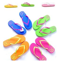 Wholesale Chocolate Sandals - summer spring love pink beach Flip Flops shoes girls and boys Soft shoes Sandals, Beach Slippers rubber