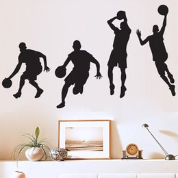 Wholesale Paper Growth Chart - Wall Stickers Basketball Player Dribble Dunk Multi Function Removable Decorative Sticker High Quality Family Decorate 12 9aw A R