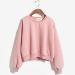 Wholesale Womens Crochet Jacket - Wholesale-2016 Hot Womens Crewneck Jacket Coat Sweater Outerwear Tracksuit Top