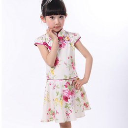 Wholesale Chinese Cheongsam For Sale - Hot Sales Cotton Girls Cheongsam Summer Princess Dresses for 5-14 Years Children Chinese Nice Chi-Pao Tang Suits New Year Gifts