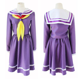 Wholesale Dresses Sommer - Kukucos Anime No Game No Life Cosplay Sailor Suit Student Dress Costume Lovely Suit For Sommer Jung Girl Women