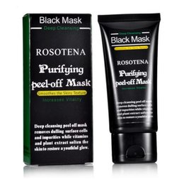 Wholesale Pimples Treatment - ROSOTENA Face Care Deep Peel Off Black Head Mud Black MaskPore Cleaner Deep Cleansing Blackhead Pimple Remover Face Mask Blackheads Nose