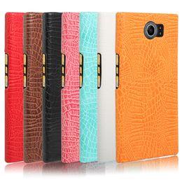 Wholesale Hard Cover For Blackberry - For Blackberry Priv Crocodile PU Leather Skin Hard Plastic Back Cover Phone Bag Case