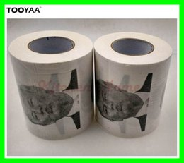 Wholesale Photo Gifts Wholesale - Hot Funny Toilet Paper with Donald Trump Photo Printing 3 layer Toilet Paper with USA President Drawing Gag Gifts