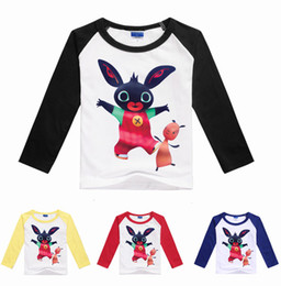 Wholesale Summer Children Cartoon Tees - 2017 Summer Boys Girls Cartoon T Shirts Bing Bunny Children Tees Clothing free shipping in stock