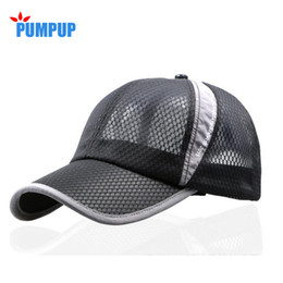 Wholesale Dry Bones Hat - Wholesale- Men and women spring snapback quick dry outdoor summer sun hat bone breathable mesh chapeu casual sports mesh men Baseball caps