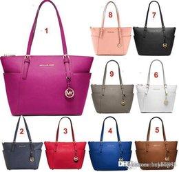 Wholesale Designer Handbag Mk - Famous Brand Bags Women MK PU Leather Handbags Famous Designer Brand Bags Purse Shoulder Tote Bag Wallet 820