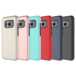 Wholesale Hybrid Armor Layers - For Samsung S8 Case 2in1 Armor Hybrid Dual Layer TPU Rugged PC Shockproof Case Cover for Samsung Galaxy S8 S8plus