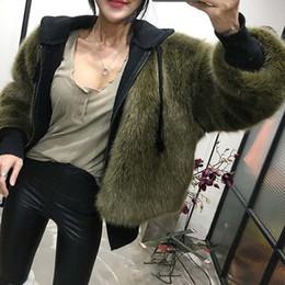 Wholesale Winter Jacket Designer Women - US UK 2018 Fall   Winter New designer Women Faux fur Jacket and Coat Female outerwear