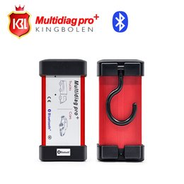 Wholesale Tcs Bluetooth - Wholesale- DHL Free Shipping Multidiag pro + 2014.03 version TCS pro with 4GB TF card + bluetooth + Plastic box