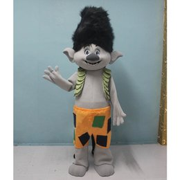Wholesale Adult Mascot Halloween - Mascot New Mascot Costume Trolls Mascot Parade Quality Clowns Birthdays Troll Halloween Party Activity Fancy Outfit Adult For Function Troll