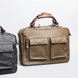 Wholesale Messenger Bag 13 Men - Free shipping 13-14 inch Portable KUMON Laptop Briefcase Rubberized canvas Messenger Laptop Bags for Apple MacBook Pro 13 inch Cases