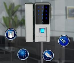 Wholesale Door Locks Electronic Fingerprint - Wholesale- Top Biometric Fingerprint Door Lock Digital Fingerprint Password Key Lock Home Office Security Electronic Door Lock Alarm Audio